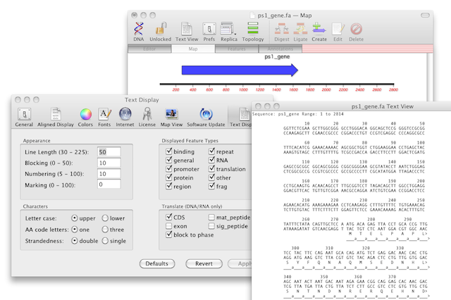Displaying translations alongside your DNA sequence |