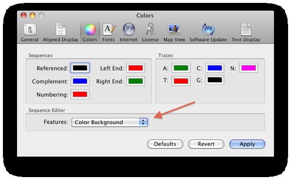 Preferences Colors