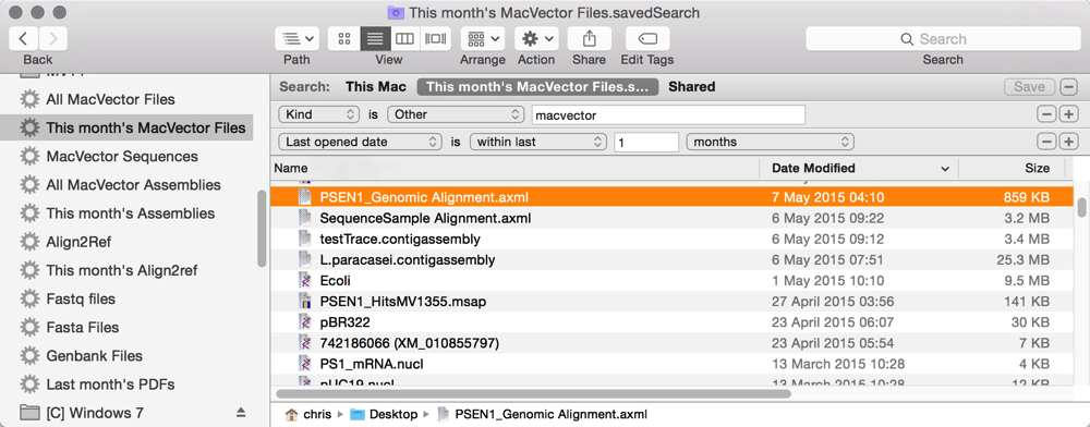 This month s MacVector Files savedSearch
