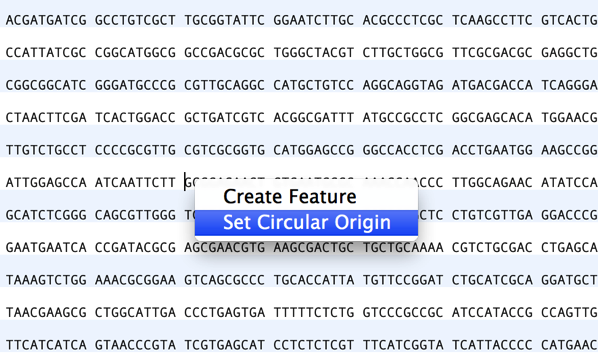 How to change the circular origin of a sequence |
